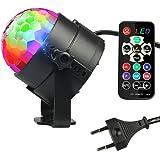 InnooLight Bola Discoteca 12 Colores RGBV LED Mini Luces Fiesta Mágica Iluminación de Efecto Escenario Cambiada por Música y Control a Distancia Discoteca, Fiesta, Boda, Navidad,etc