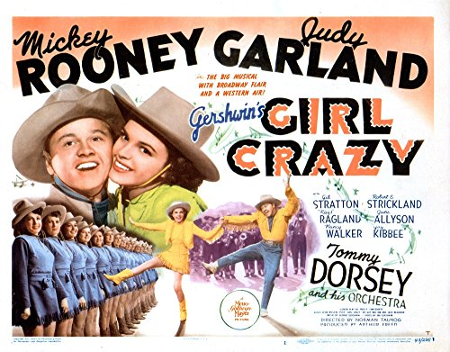 Posterazzi Girl Crazy Us Mickey Rooney Judy Garland (Top Right and Bottom Left in Yellow) 1943 Movie Masterprint Poster Print (14 x 11)