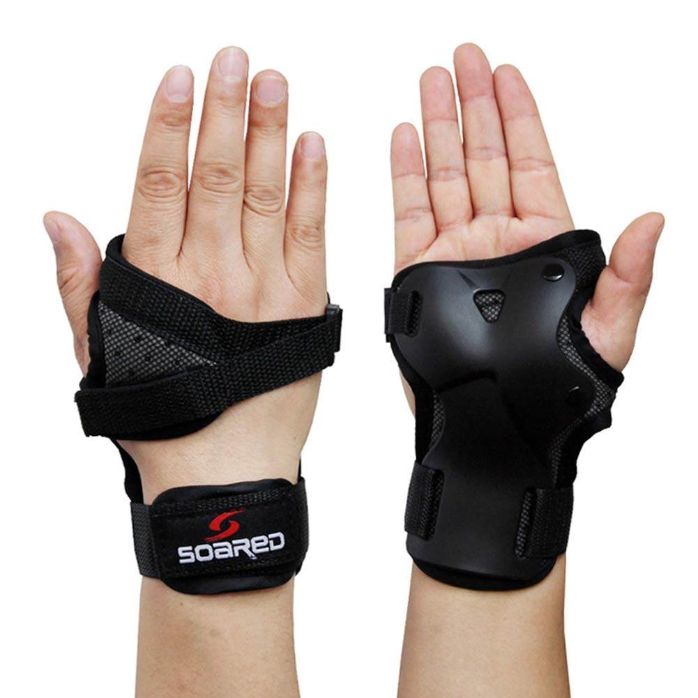 Caistre Impact Wrist Guard Protective Gear Wrist Brace Wrist Support for Skating Skateboard Skiing Snowboard Motocross Multi Sport Protection Roller Sweeping Handguards S