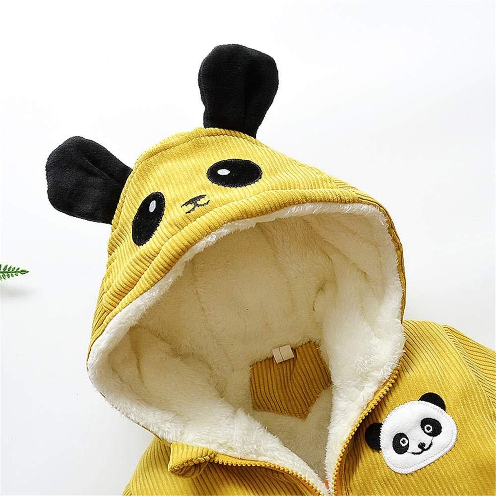 Jchen(TM) Infant Kids Little Girls Boys Cartoon Panda Winter Warm Jacket Hooded Zipper Outerwear Coat for 1-3 Y (Age: 12-18 Months, Yellow) by Jchen Baby Coat (Image #9)
