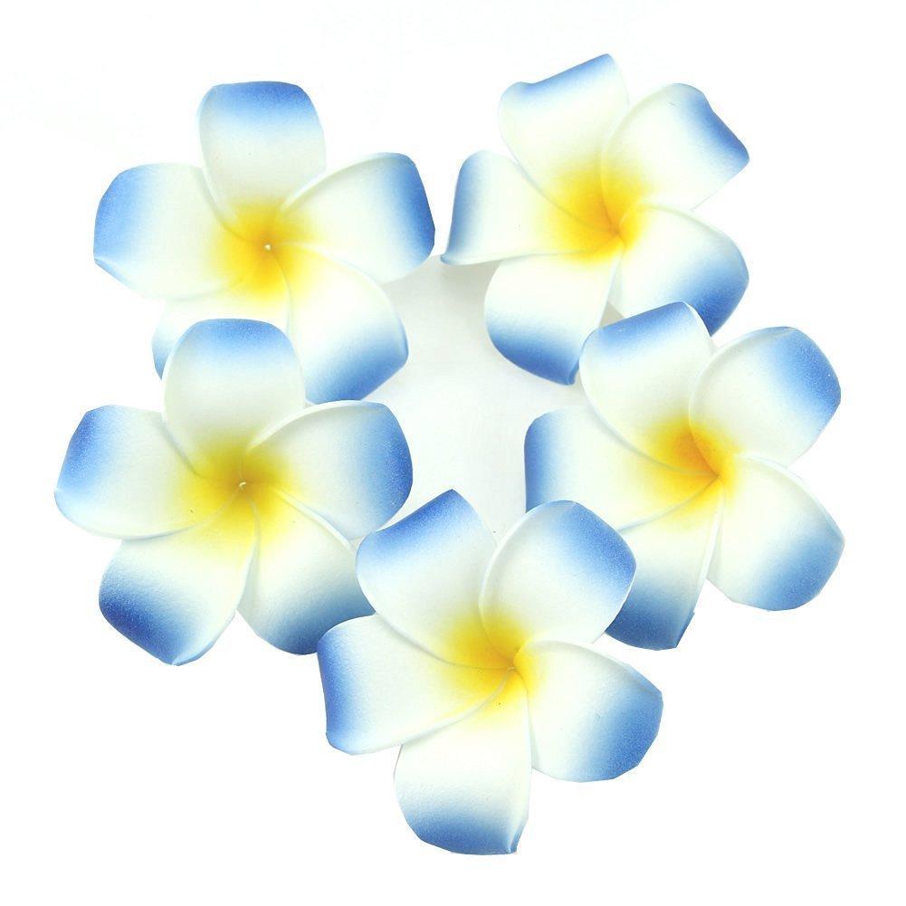 Ewandastore-100-Pcs-Diameter-28-Inch-Artificial-Plumeria-Rubra-Hawaiian-Foam-Frangipani-Flower-Petals-for-Weddings-Party-DecorationBlue