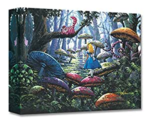 A Smile You Can Trust - Treasures on Canvas - Disney Fine Art Alice in Wonderland Cheshire Cat Gallery Wrapped Canvas Wall Art by Rodel Gonzalez