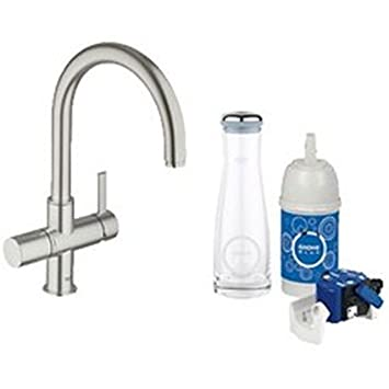 grohe 31312dc0 grohe blue dual function kitchen faucet water