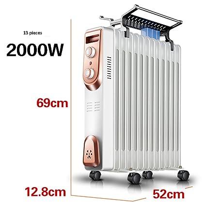 Calentador QFFL eléctrico del termostato eléctrico Radiador eléctrico del Ahorro de energía 7 Color Opcional Enfriamiento
