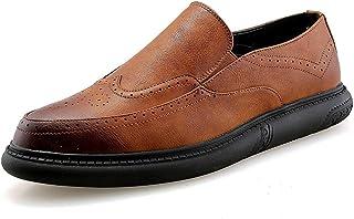 2018 Richelieus Homme, Taille Basse pour Hommes, Couleur Confortable, Sculpture, Chaussures Richelieu à la Mode, Chaussures décontractées (Color : Gris, Taille : 40 EU)