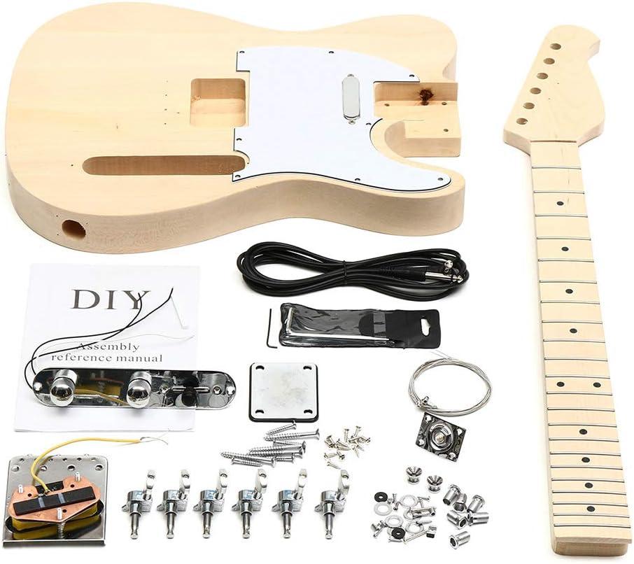 YZUEYT 未完成のDIYエレキギターマホガニーボディローズウッド指板キットセット耐久性