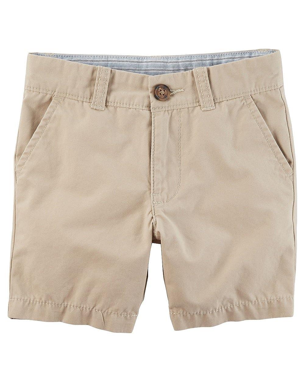 Carters Big Boys Uniform Flat-Front Shorts 8-Kids Beige
