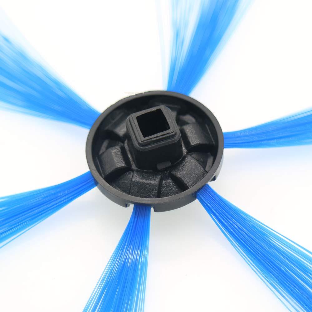 2 piezas de cepillos laterales para aspiradora azul robot compatibles con 6 brazos para Phi-Lips