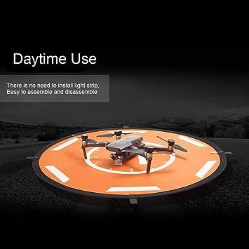 Mobiliarbus RC Landing Pad Drone Landing Pad con luz LED Delantal ...