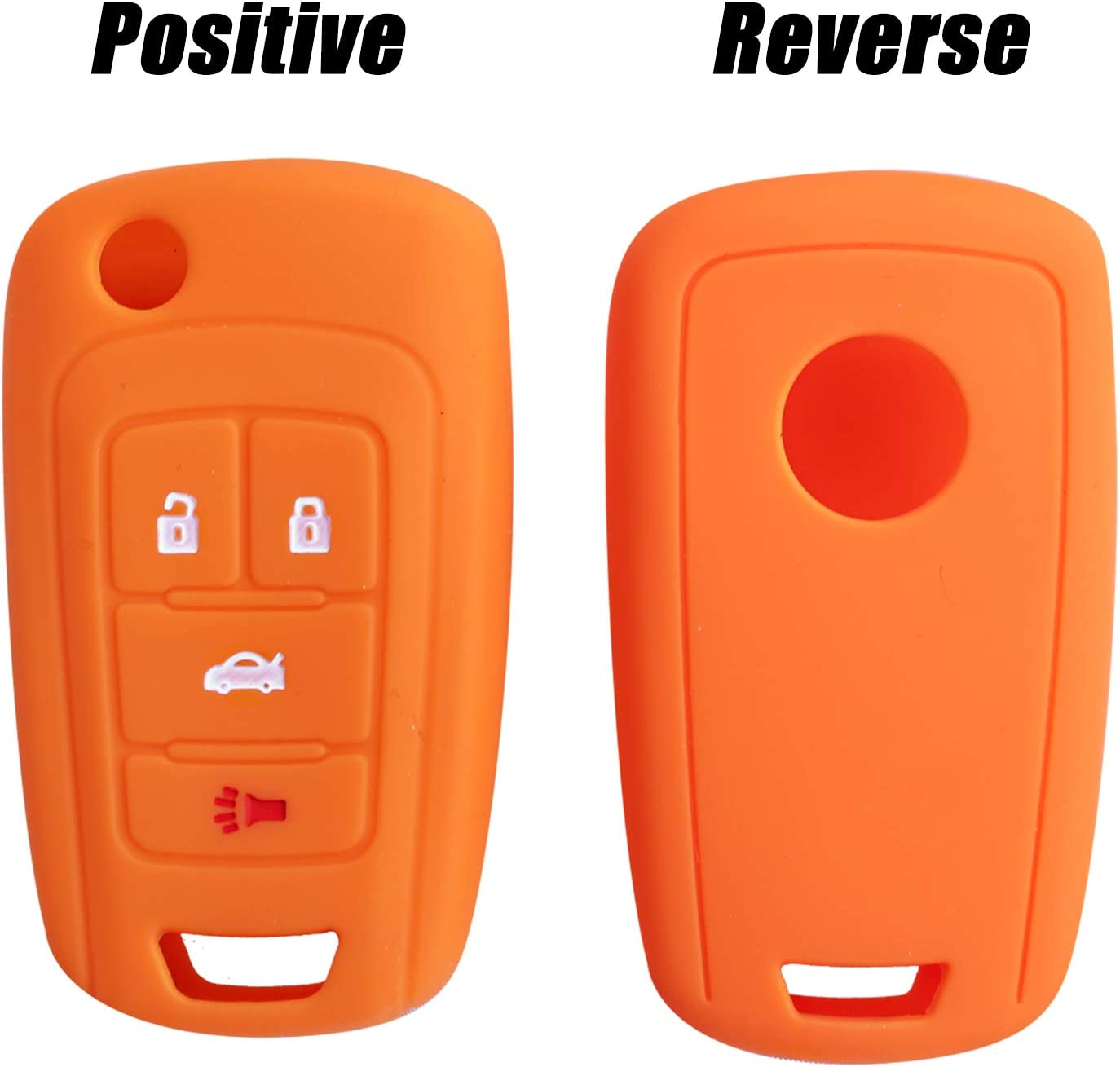4 Buttons Remote Key Silicone Rubber Keyless Entry Shell Case Fob and Key Skin Cover fit for Chevrolet Camaro Cruze Volt Equinox Spark Malibu Sonic Buick for Opel YELLOW