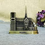 BWLZSP Notre Dame Cathedral Decoration Creative Metal Catholic Church Building Model Birthday Gift Tourism Souvenirs WL5181444