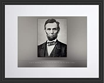Abraham Lincoln Poster Photo Encadrée Citation Ne Rien