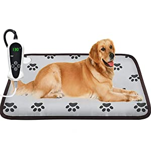 AILEEPET Pet Heating Pad Large, Dog Cat Heating Pad Indoor Auto Power Off Warming Mat