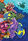 Toland Home Garden Angelfish and Coral Friends 28 x 40 Inch Decorative Tropical Reef Fish Turtle House Flag Review