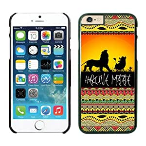 Hakuna Matata on Sunset Lion King Iphone 6 Cases Black