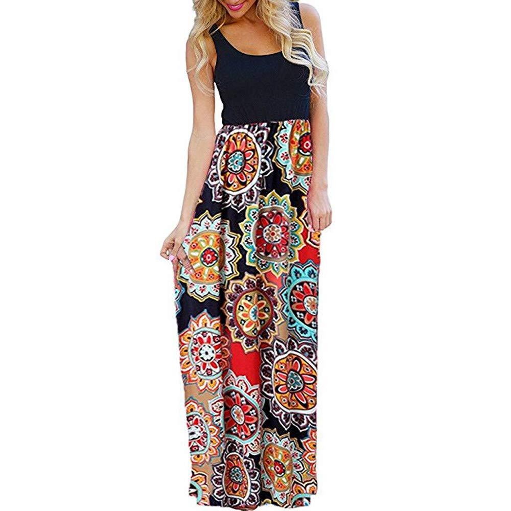 TnaIolral Women Dresses Striped Long Boho Lady Beach Summer Sundrss Skirt