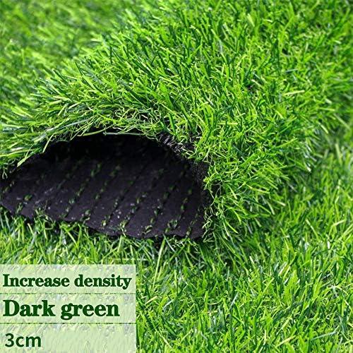 GAPING 人工芝人工芝は、風景に適した密度を高めました - 庭 - 家のカーペットの高さ30 Mm 3色で入手可能 (Color : Dark green, Size : 2x5m)