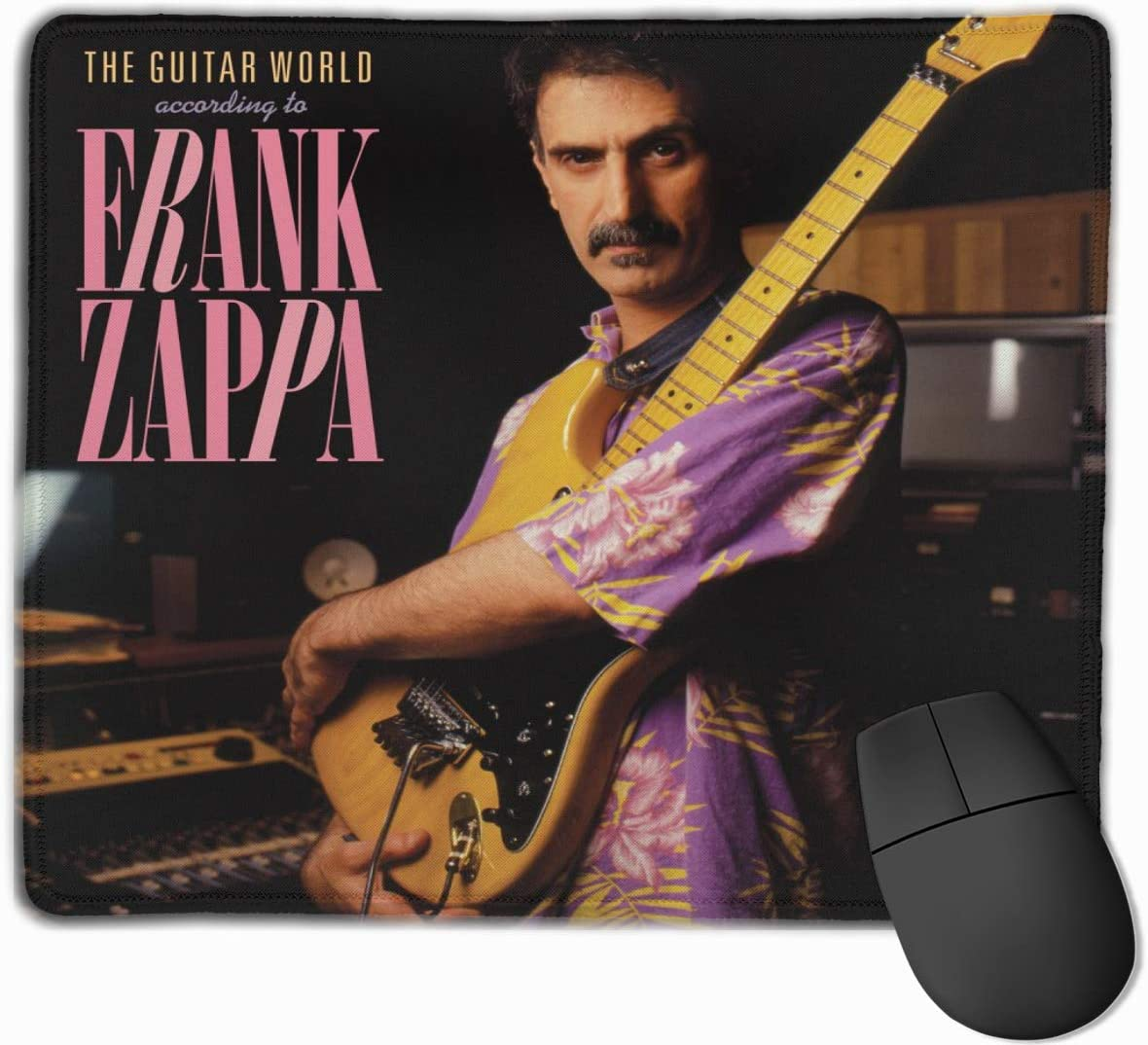EVE JOHN Polyester Office High-Definition Printing Mouse Pad The Guitar World Frank Zappa