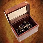 Steampunk Folding Binoculars w/Compass - Brass Opera Glasses 8