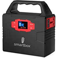 Smartbox Powerful Solar Generator –Portable Power Charging Station With Multiple USB & AC Outlets–100-Watt Emergency Solar Battery Charger With Ultra-Bright LED Light For Outdoor Activities
