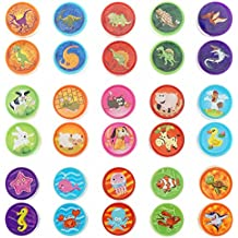 Shxstore Assorted Rubber Self-inking Stamps for Kids of 3 Styles Dinosaur Stamps Farm Animal Stamps Sea Ocean Stamps, 30 Counts