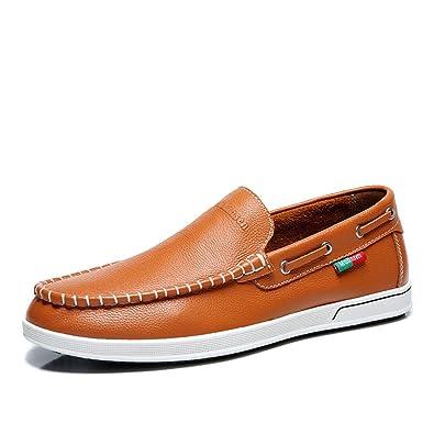 Ksmxos ドライビングシューズ メンズ 夏 本革 おしゃれ スリッポン 革靴 紳士靴 ローファー ビジネス カジュアルシューズ