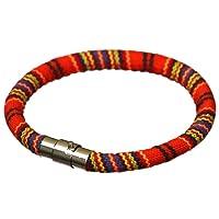 Bigood Personnalité Rétro Bracelet Corde Boucle Magnétique Simple