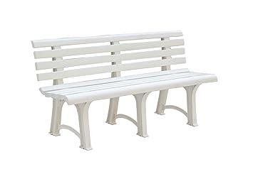 Banc De Jardin Atena Plastique Trois Pieds Blanc 150 Cm Amazon
