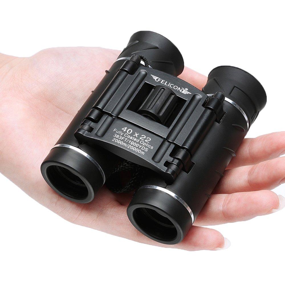 双眼鏡コンパクトでミニの大人と子供、高Powered 40 x 22 Folding双眼望遠鏡bak4プリズムFMCレンズfor Bird Watching観光旅行スポーツゲームシアターコンサートキャンプハイキング B07D66XP7F