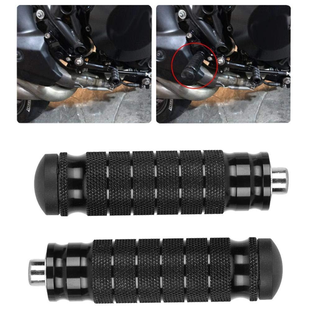 2 st/ücke CNC Motorrad Hinten Fu/ßst/ützen Universal M8 rutschfeste Fu/ßst/ütze Pegs Pedale Motorrad Hinten Fu/ßst/ützen fu/ßrasten