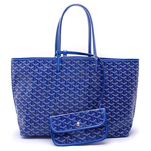 Blue Tote Bag Shoulder Pu Leather Lady Set Charlestonde Fqw0HBR