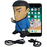 Star Trek Gifts Action Figure | Mr Spock Portable Bluetooth Speaker - Plays Music & Speaks | Original Series Toys Collectibles Figures - Great Unique Gift for Men Dad Geek Fans