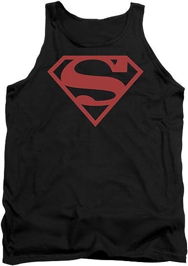 Superman DC Comics Red /& White Shield Adult Tank Top Shirt