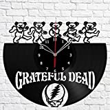 Grateful Dead Vinyl Record Wall Clock Fan Art Handmade Decor Original Gift Unique Decorative Vinyl Clock 12″ (30 cm) For Sale