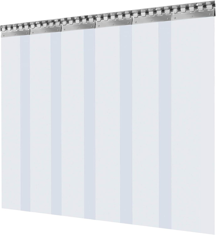 F/ábricas etc Material Impermeable Transparente PVC 6 Tiras Total 1x1,75 m VEVOR Cortina Puerta PVC Transparente Impermeable Casas Cortina Puerta PVC Ancho Total 1 m para Supermercados Tiendas
