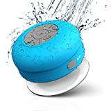 Wireless Stereo Shower Speakers, Yes2Good Portable Waterproof Bluetooth Wireless Stereo Shower Speakers,Kid-friendly - Best for Bath, Pool, Car, Beach, Indoor/Outdoor Use - [BLUE]