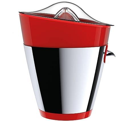 Tix Exprimidor, Exprimidor de Diseño con 2 diferentes Rojo/acero inoxidable