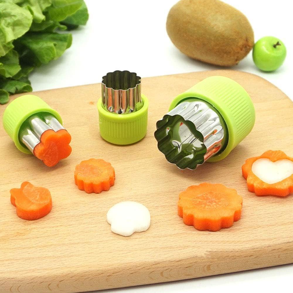 5 x Backzubehör Kunststoff Keks Ausstecher Ausstechformen Gemüse Obst