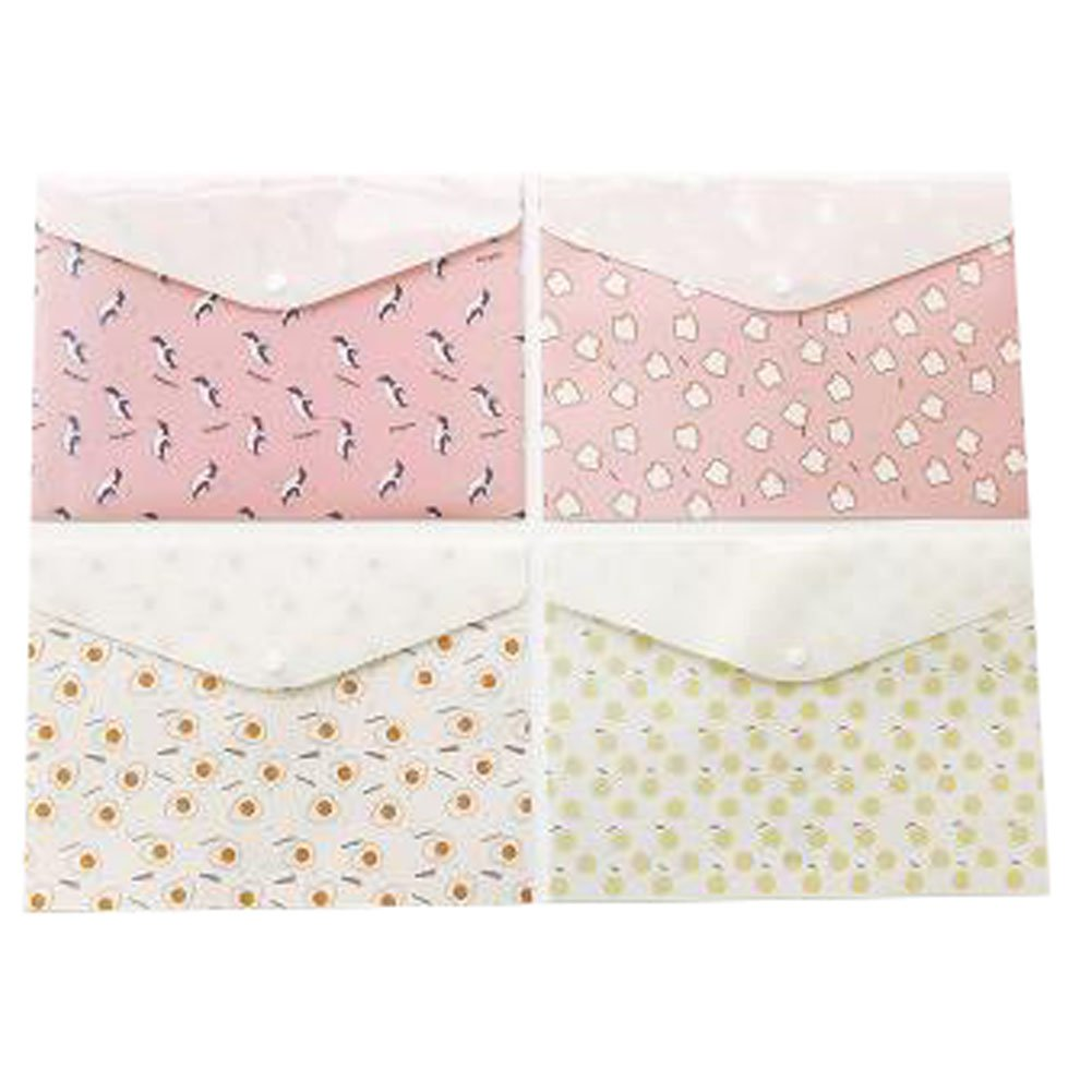 2PCS Cute File Bag Stationery Bag Pouch File Envelope for Office/School Supplies, Simple
