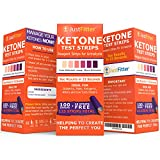 Just Fitter Ketone Test Strips. Lose Weight, Look & Feel Fabulous on a Low Carb Ketogenic or HCG Diet. Get Your Body Back! Accurately Measure Your Fat Burning Ketosis Levels in 15 Seconds. 125 Strips.
