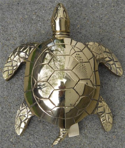 Large Solid Brass Sea Turtle Doorknocker