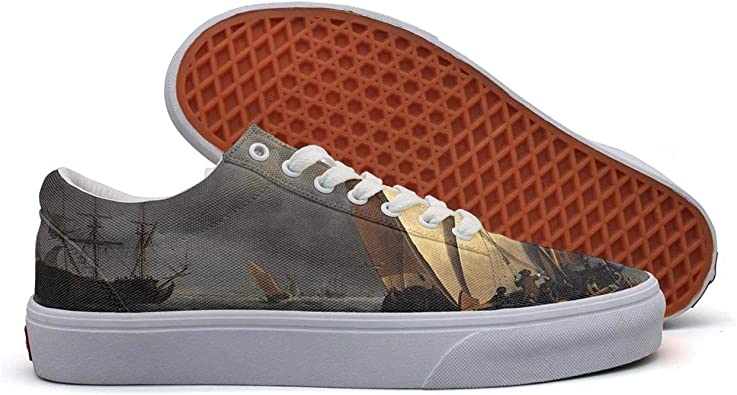 Milr Gile Sea Ocean Sail Print Sneaker Flat Canvas Shoes for Womens Stylish