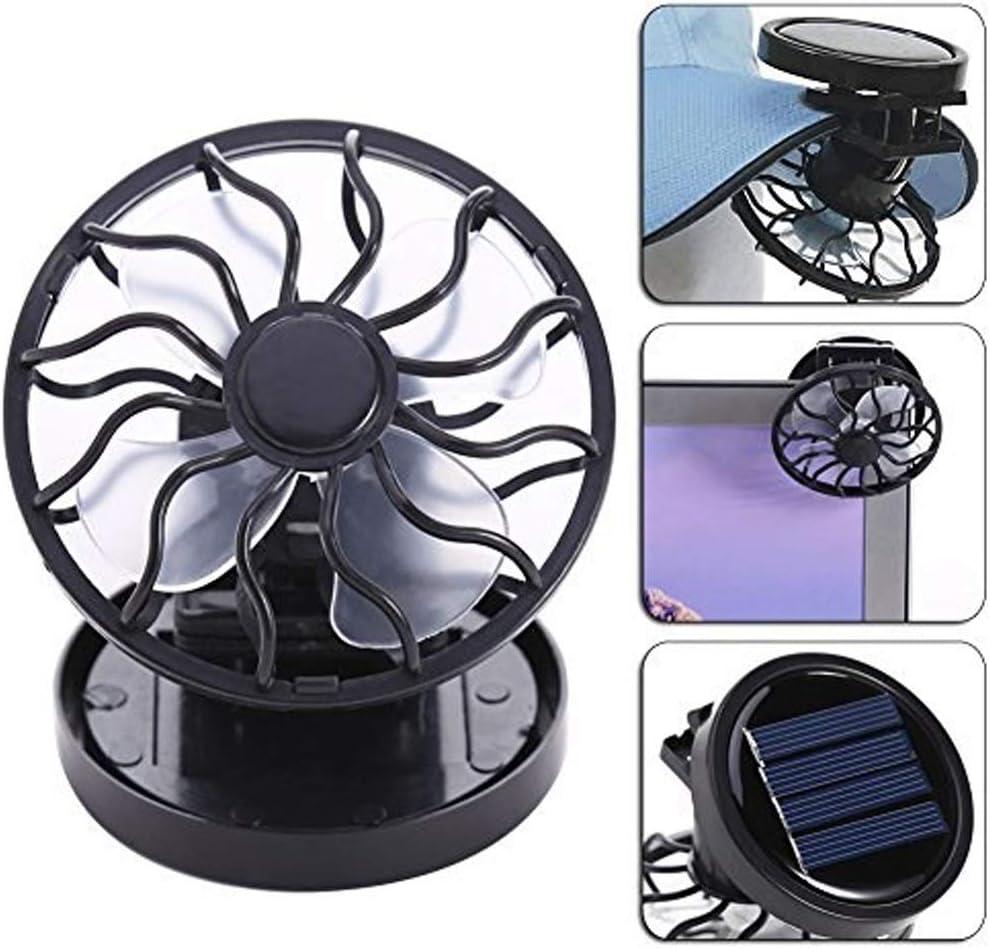 JIAHE115 Jiale Small Personal USB Desktop Fan-HJCA19080243 Cooling Fan Clip Mini Battery Board Beach Outdoor Black