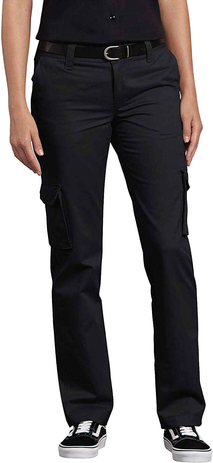 Dickies Women's Relaxed Fit Stretch Cargo Straight Leg Pant: Clothing