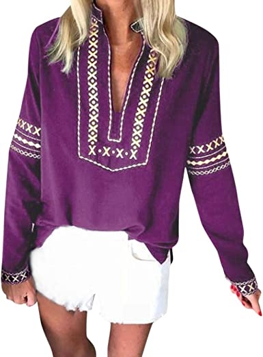 Camisas Mujer Blusas de Fiesta Blusas Suelto Verano Blusa ...