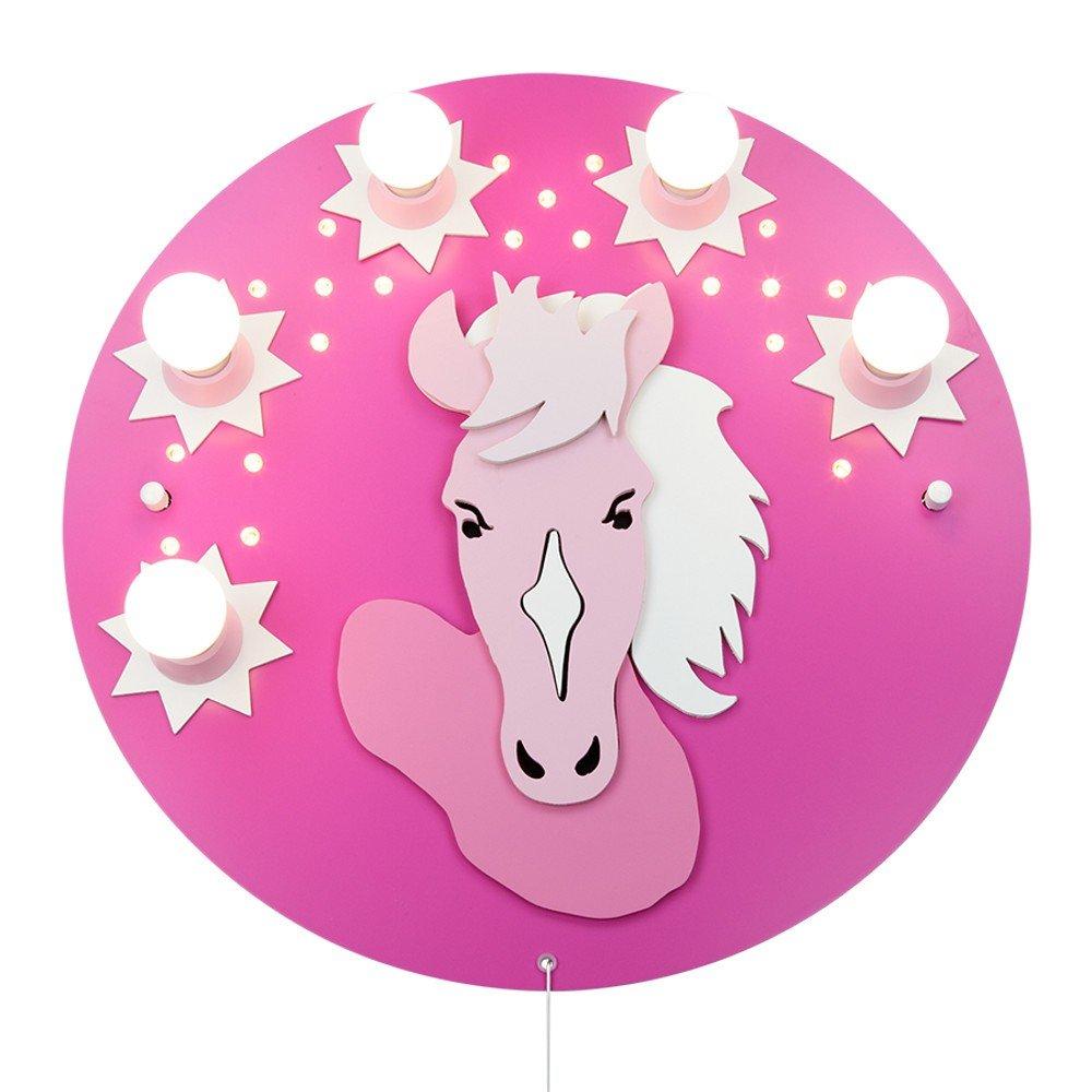 LED Schlummerlicht Pink Pony 5er Deckenlampe elobra 124710