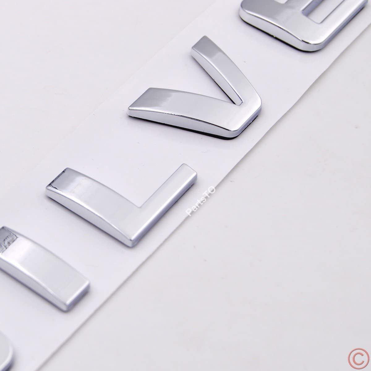 Chrome Silver PartsTo Silverado Nameplate Letter Script Emblems Badge for Chevrolet Silverado 2007-2015