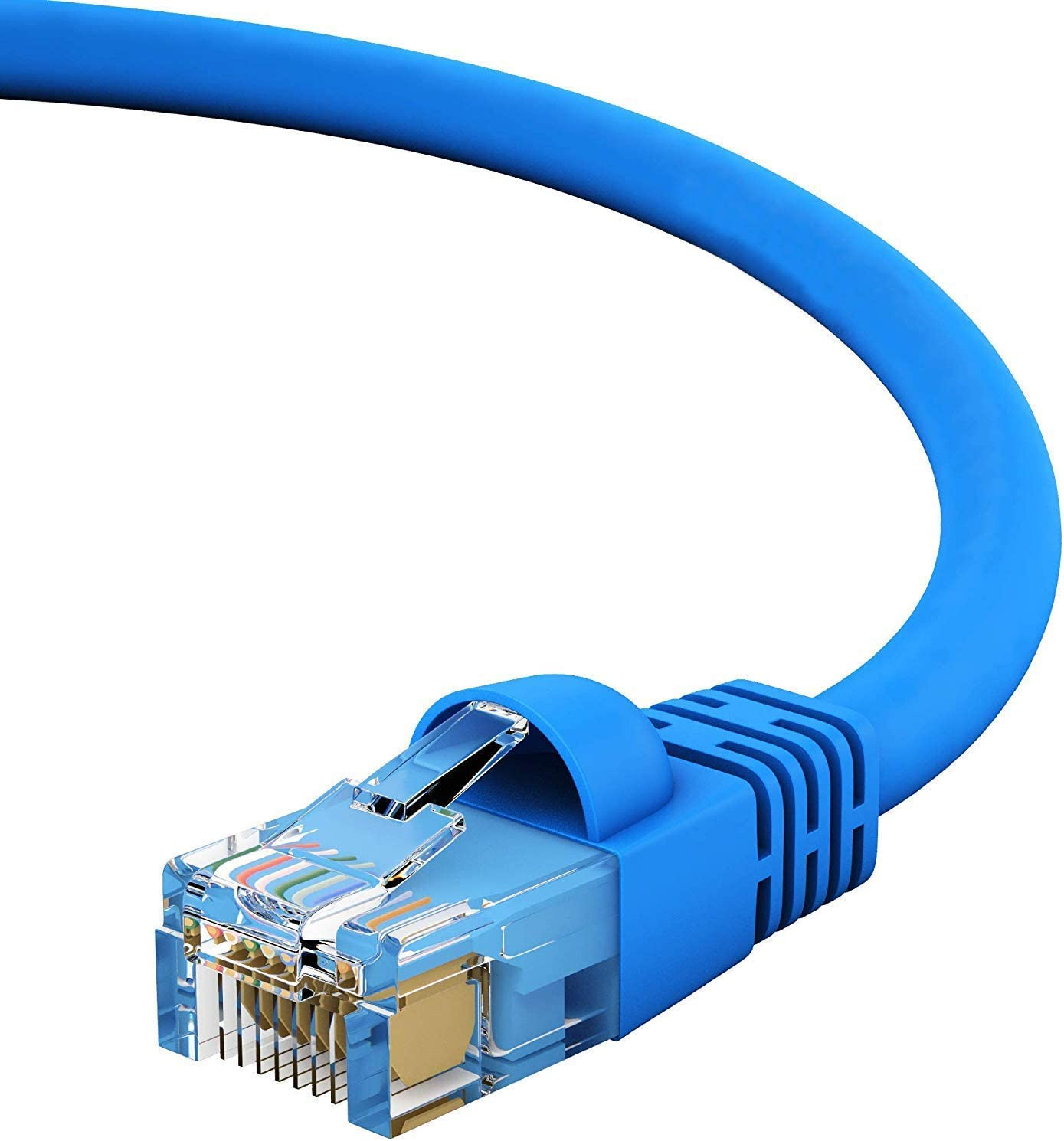 GOWOS Cat5e Ethernet Cable Blue 1Gigabit//Sec High Speed LAN Internet//Patch Cable 10-Pack - 0.5 Feet 24AWG Network Cable with Gold Plated RJ45 Snagless//Molded//Booted Connector 350MHz