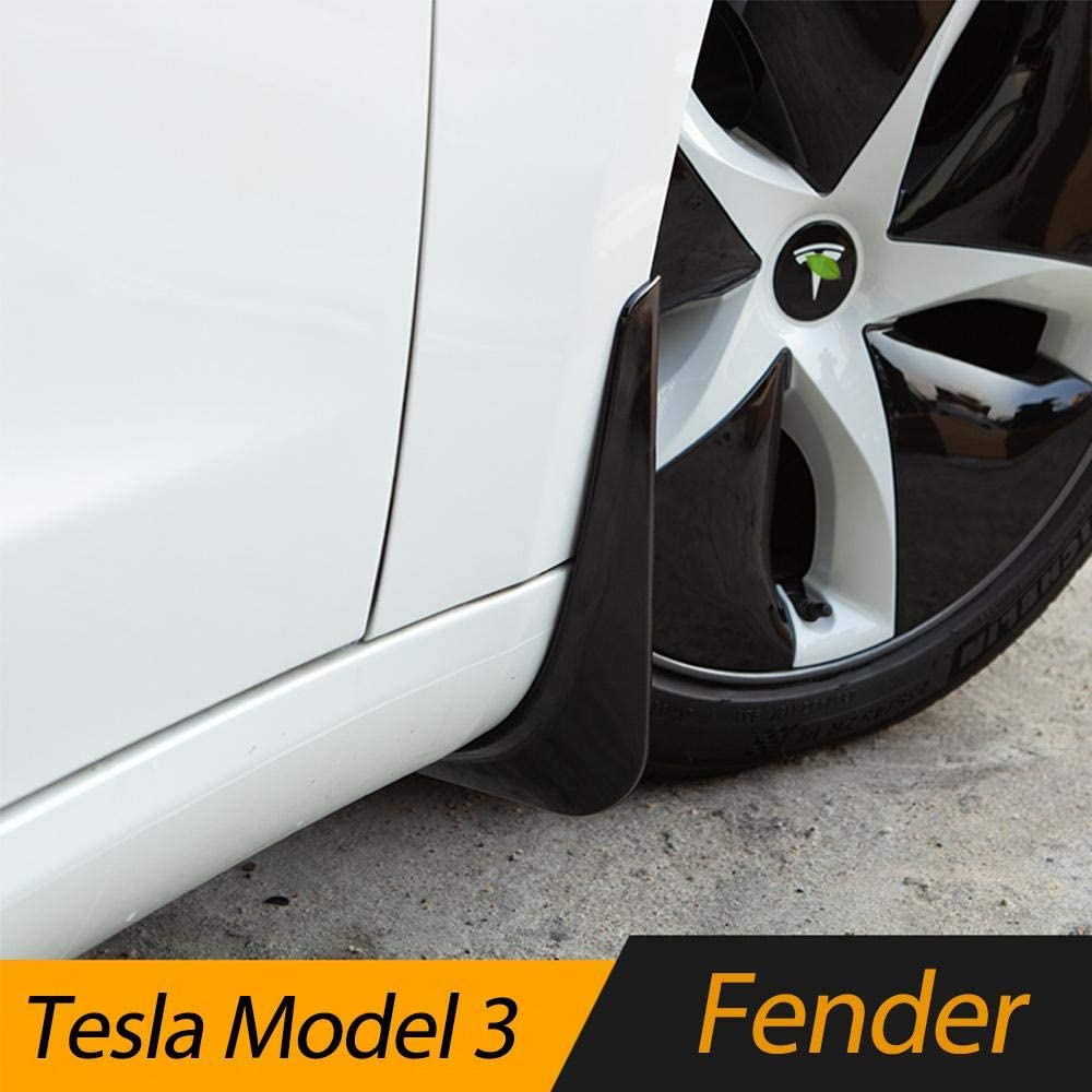 Fender Flares with Retainer Clips and Screwdriver,Keep Your Car Body Clean lesgos Mud Flaps Splash Guards for Tesla Model 3