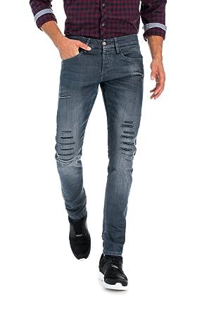 c8a4078e4d30a Salsa - Pantalon Skinny - Clash - Homme - Gris: Amazon.fr: Vêtements ...